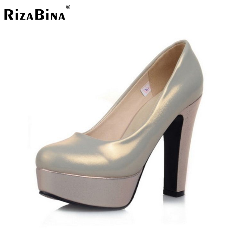 ФОТО women platform high heel shoes sexy quality spring fashion heeled footwear brand pumps heels shoes size 32-43 P16330