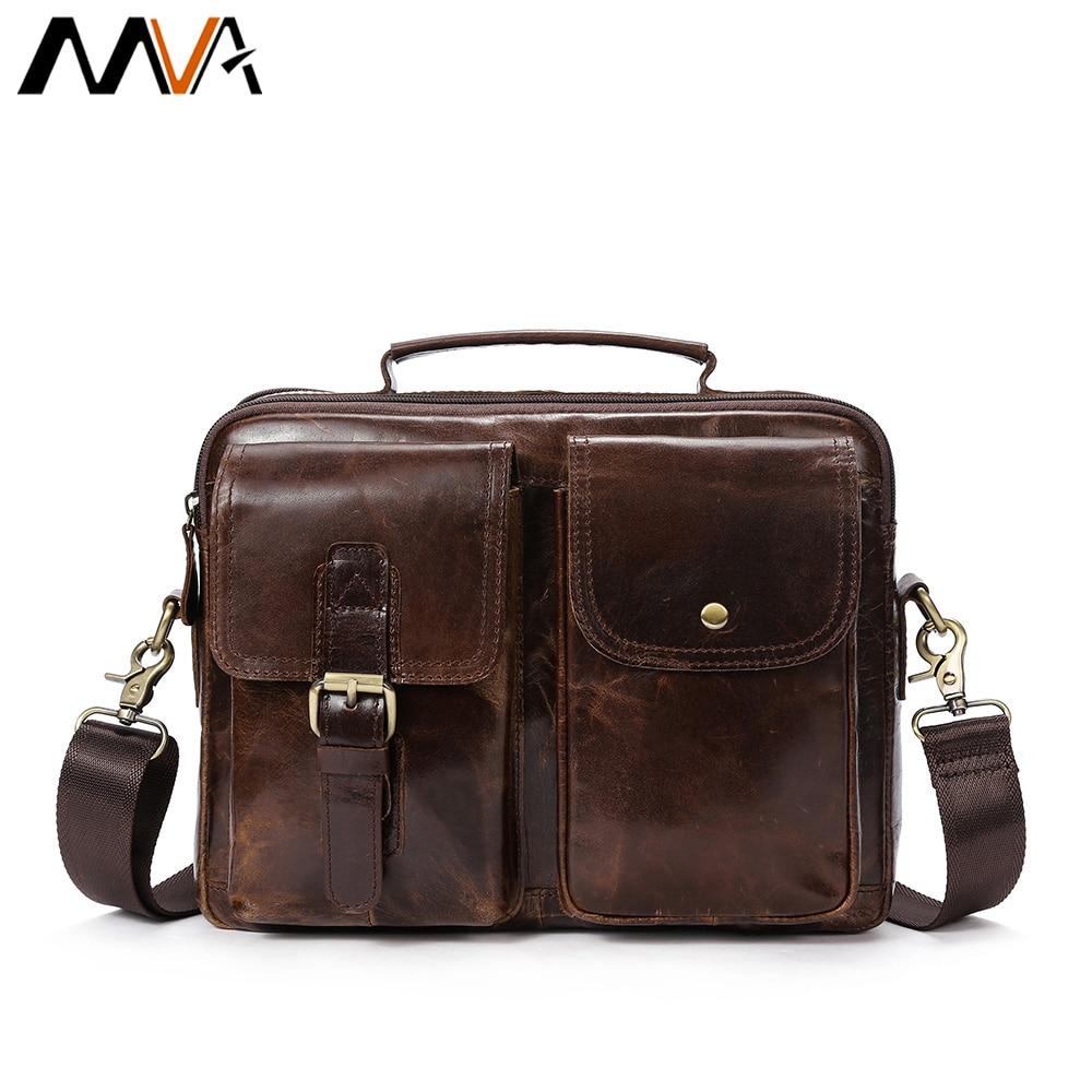MVA сумка Для мужчин из натуральной кожи сумки на плечо Мужской Топ-ручка Hasp кожа Для мужчин сумка Crossbody сумки для Для мужчин сумки 8114