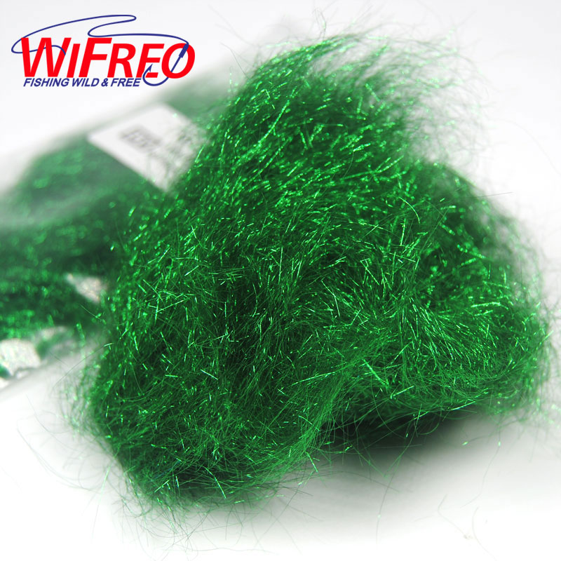 Multiple Color Ice Dub for Fly Tying Nymph Scuds Ice Wing Fiber Dubbing Material Flash Sparkle Addding 1pcs fly tying dubbing wax medium tack 4g premium