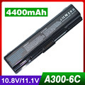 4400 mah batería del ordenador portátil para toshiba satellite l455d l500 l500d l505 L505D L550 L550D L555 L555D M200 M205 Pro A200 A210 A300
