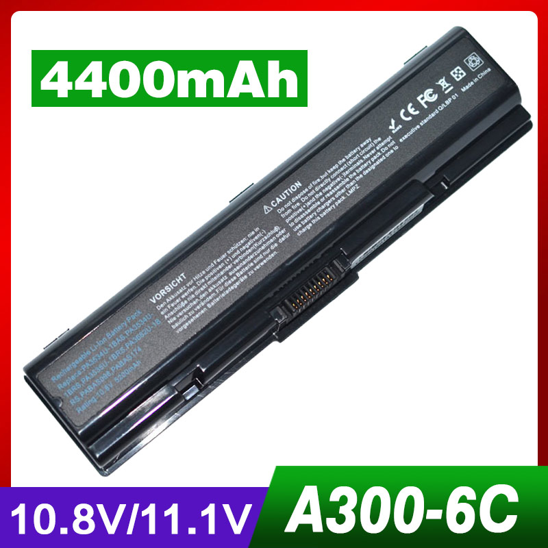 4400mAh Laptop Battery for Toshiba Satellite L455D L500 L500D L505 L505D L550 L550D L555 L555D M200 M205 Pro A200 A210 A300