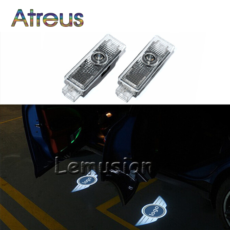 Atreus 1Pair LED Courtesy Lamp Car Door Welcome Lights 12V Projector Shadow car Styling For Mini Cooper R36 R56 R57 Accessories