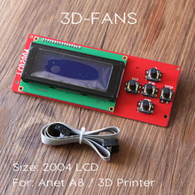 1Pcs Anet A8 2004 LCD Smart Display Screen Controller Module with Cable for RAMPS 1.4 Mega Pololu Shield Reprap 3D Printer