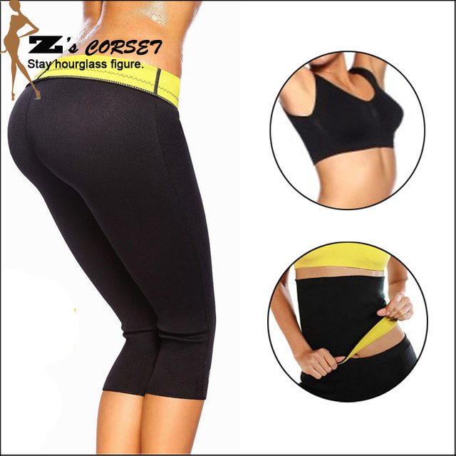 0125846df9c01 Hot Shapers Neoprene Thermal Slimming Waist Belt Shaper Sauna Fitness  Slimming Workout Pants Women Body Shaper Sports Vest S-2XL