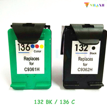 vilaxh 132 136 Compatible Ink Cartridge Replacement for HP 132 136 for Photosmart 2573 C3183 Officejet 6213 PSC 1513 printer
