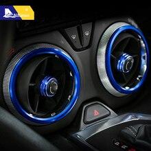 Airspeed 4 шт. для Chevrolet Camaro аксессуары 2017 + автомобиль кондиционер Выход крышка отделка вентиляционные отверстия украшения кольца стайлинга автомобилей