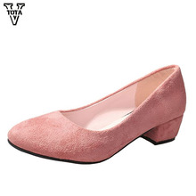 VTOTA 2018 Spring Pumps Shoes Woman Fashion Women Square Toe Mary Janes Platform Shallow Work Office Lady LS
