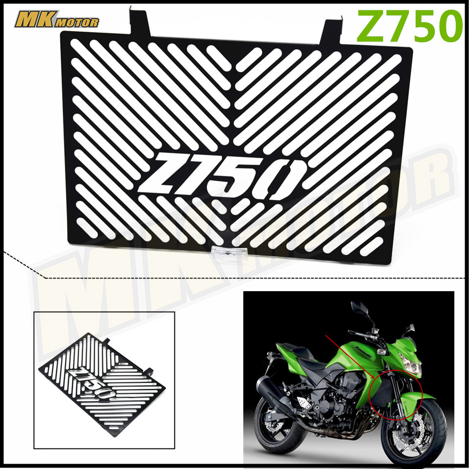 Free delivery For Kawasaki Z750 Z 750 2008-2012 Motorcycle Accessories Radiator Grille Guard Cover Protector Black motorcycle accessories green radiator protective cover grill guard grille protector for kawasaki z750 z1000 2007 2015 2008 2009