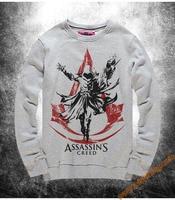 Mens hoodie sweatshirt Assassin S Creed Black Hooded Sweatshirt Asassins Creed For Mens