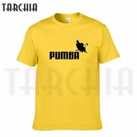 TARCHIA 2016 New Brand PUMBA Lion King T Shirt Cotton Tops Tees Men Short Sleeve Boy