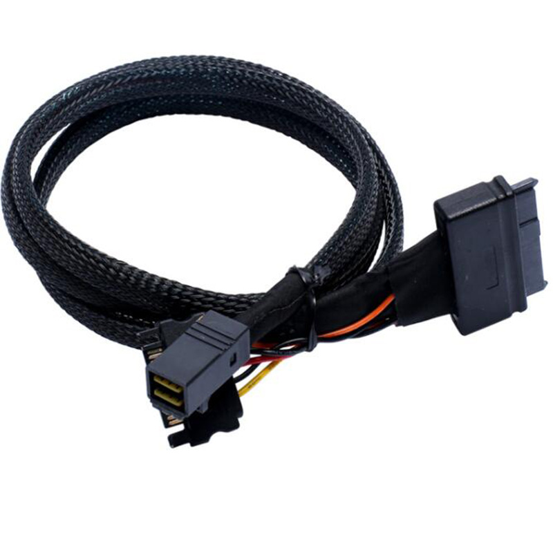 HD mini SAS to U.2 Cable SFF-8643 to SFF-8639 U2 Adapter Cable for 2.5 NVMe SSD