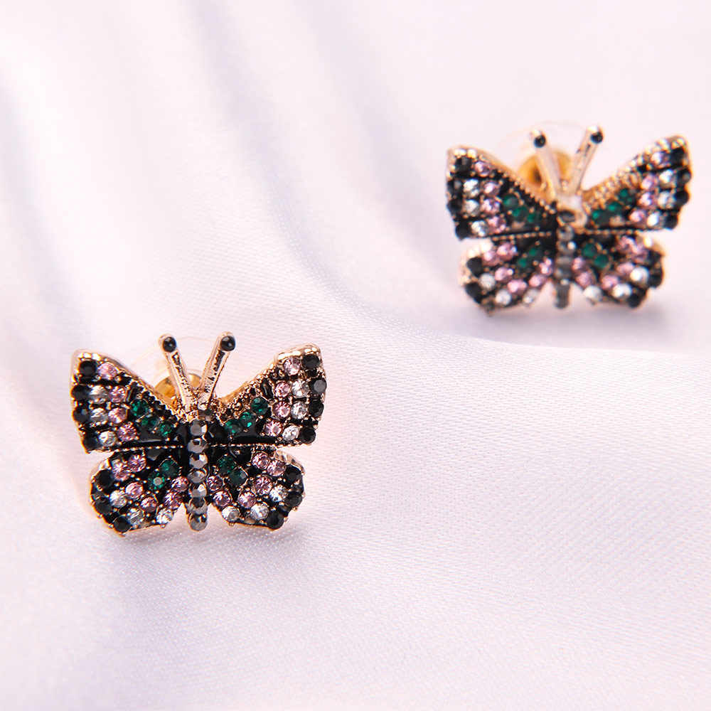 1Pair Butterfly Stud Earrings Sweet Temperament Simple Elegant Personality for Women Girls Female  Fashion Jewelry Gifts