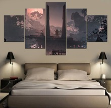 Sekiro Shadows Die Twice Game 5 Piece Paintings Wall Art HD Print Home Modern Decor Canvas Painting Room