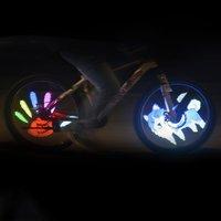 Programmable DIY USB Rechargeable Bike Spoke Light Bicycle Wheel Tire Light D020P Waterproof Colorful Wheel Light RGB LED Light