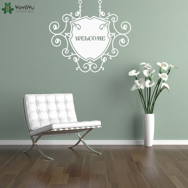 personalized words wall stickers modern design quotes welcome