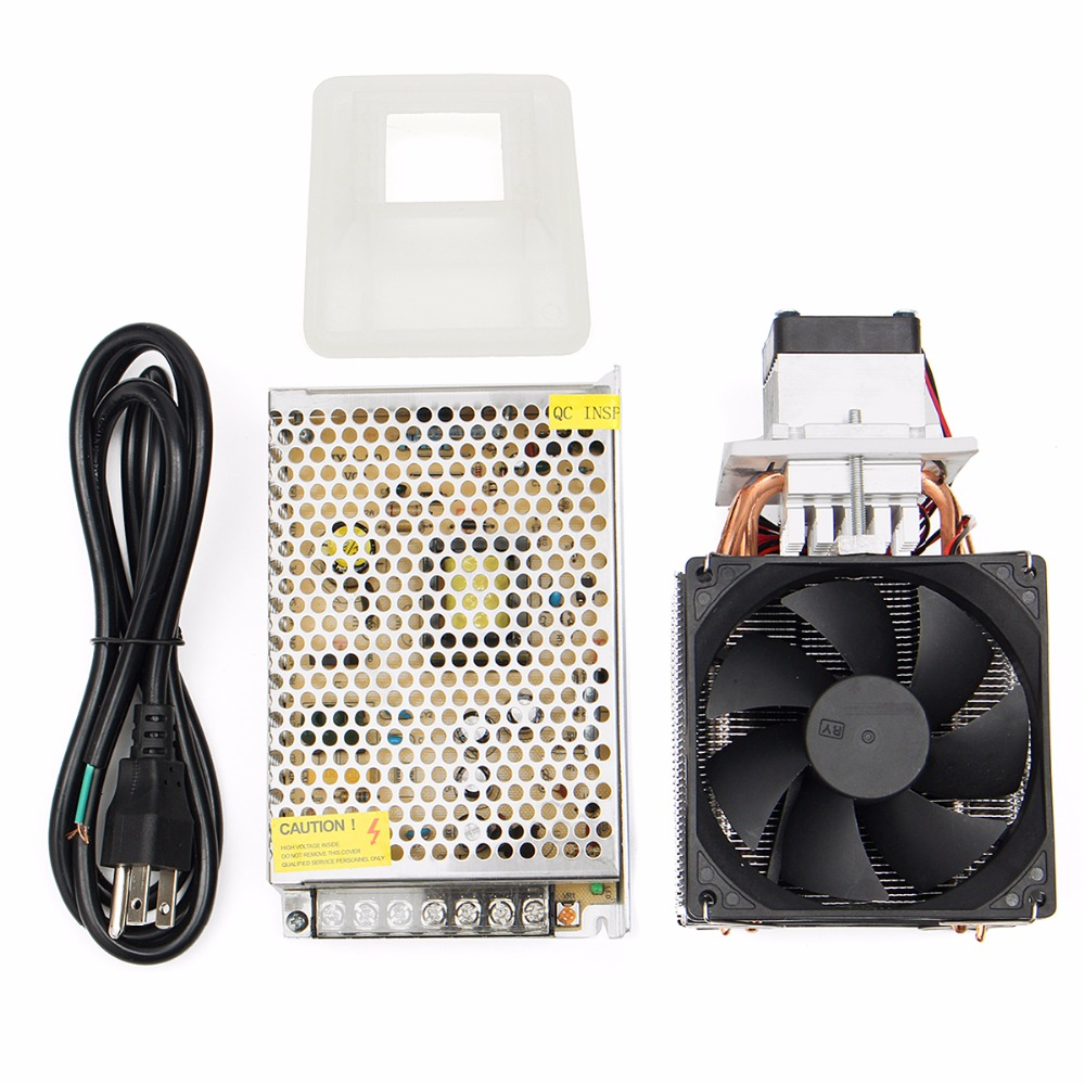 12V DIY Semiconductor Refrigeration Thermoelectric Peltier Air Cooling Machine Device tec1 12708 65w semiconductor refrigeration part
