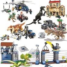 NEW Jurassic World 2 Blue Owen Indoraptor Rex T. Fallen Kingdom Sets Dinosaurs Toys Legoes Building Block