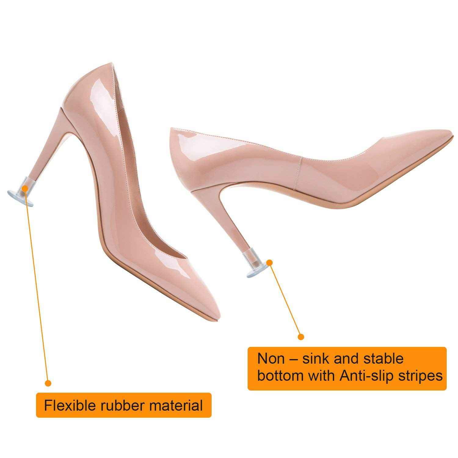 99892a68d14 24 Pairs High Heel Protectors Clear Heel Stoppers for Wedding or Outdoor  Events high heel protectors for walking on grass