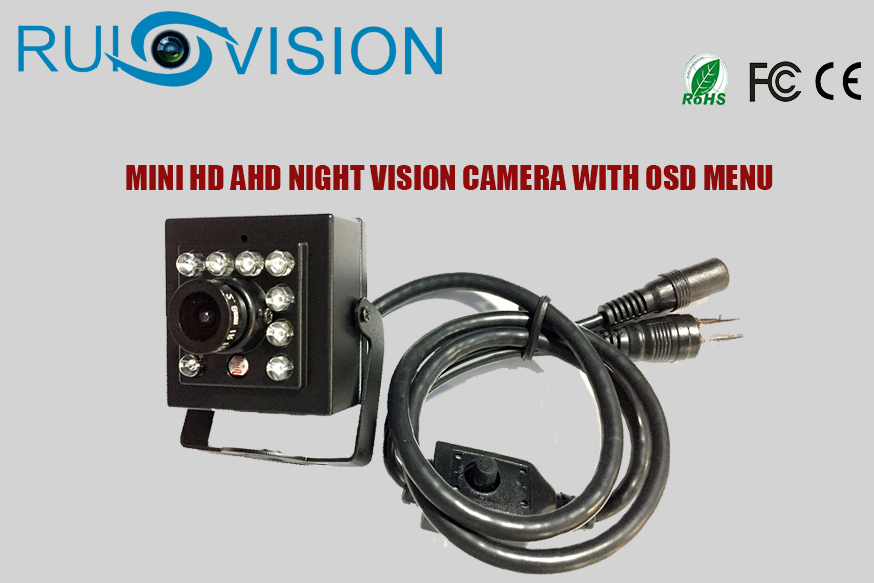 2017 NEW MINI HD AHD OSD 720P/960P/1080P Night Vision cctv camera for Home Security Surveillance video cam camera free shipping
