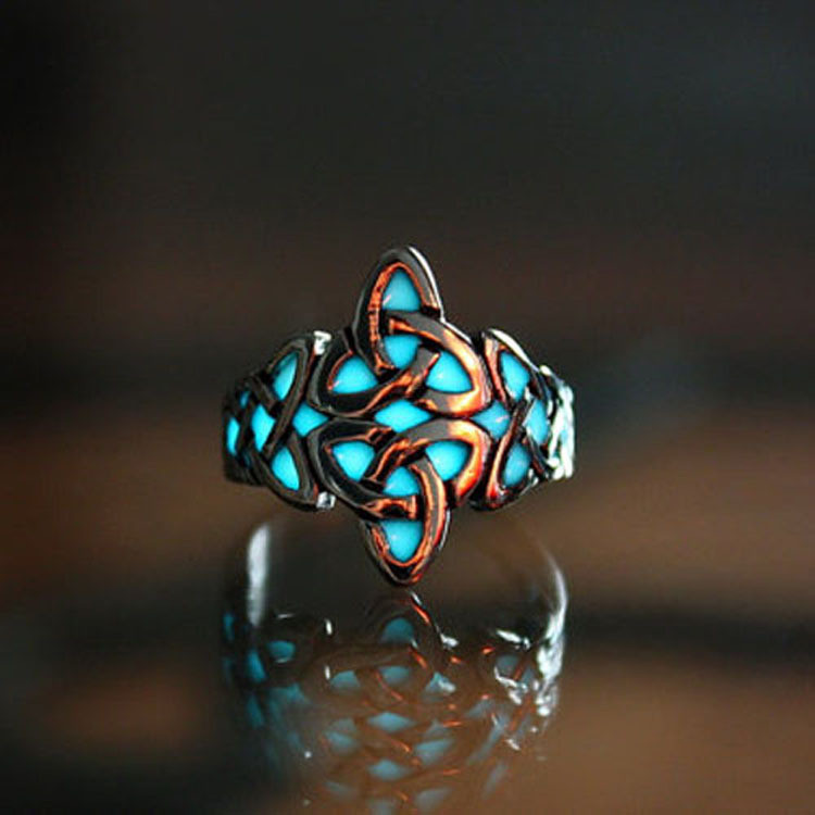 Glow-In-The-Dark-Ring-Style-Retro-Can-be-Adjusted-Geometric-Mayan-Mysterious-Luminous-Fluorescent-Glowing (4)