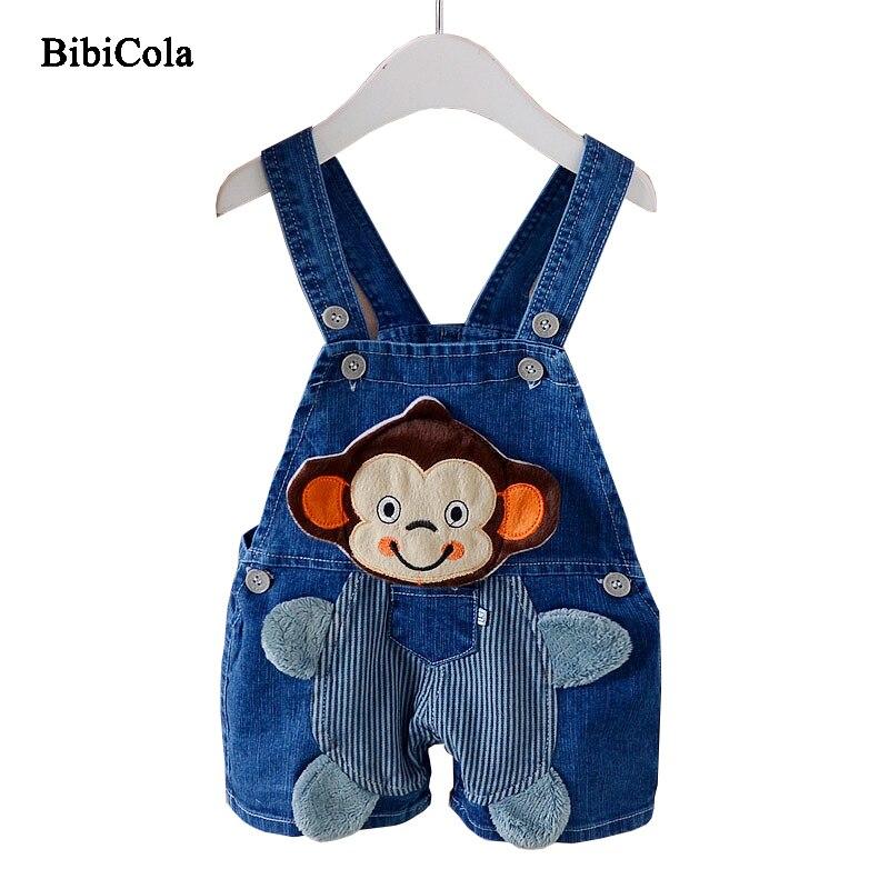 BibiCola Boys Pants Clothes Overalls Cartoon Botton Boys