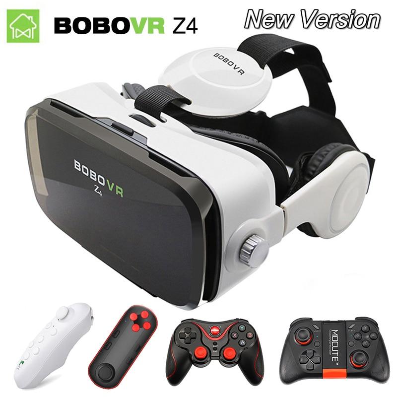 BOBO VR caja 2,0 con auriculares google cartón para 4,0-6,0 pulgadas teléfonos inteligentes BOBOVR Z4 Mini gafas de realidad Virtual 3D gafas vr