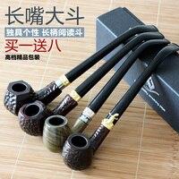 Briar Smoking Set Rosewood Smoking Pipe Small Long Design Handmade Of Tobacco Poleaxe Smoking Pipe