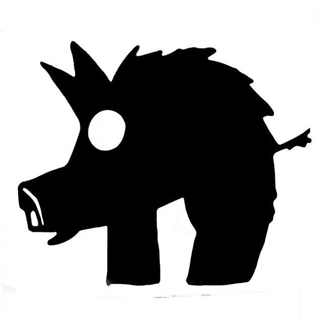 15 12 5 Cm Cartoon Wilde Schwein Vinyl Aufkleber Nette Wildschwein