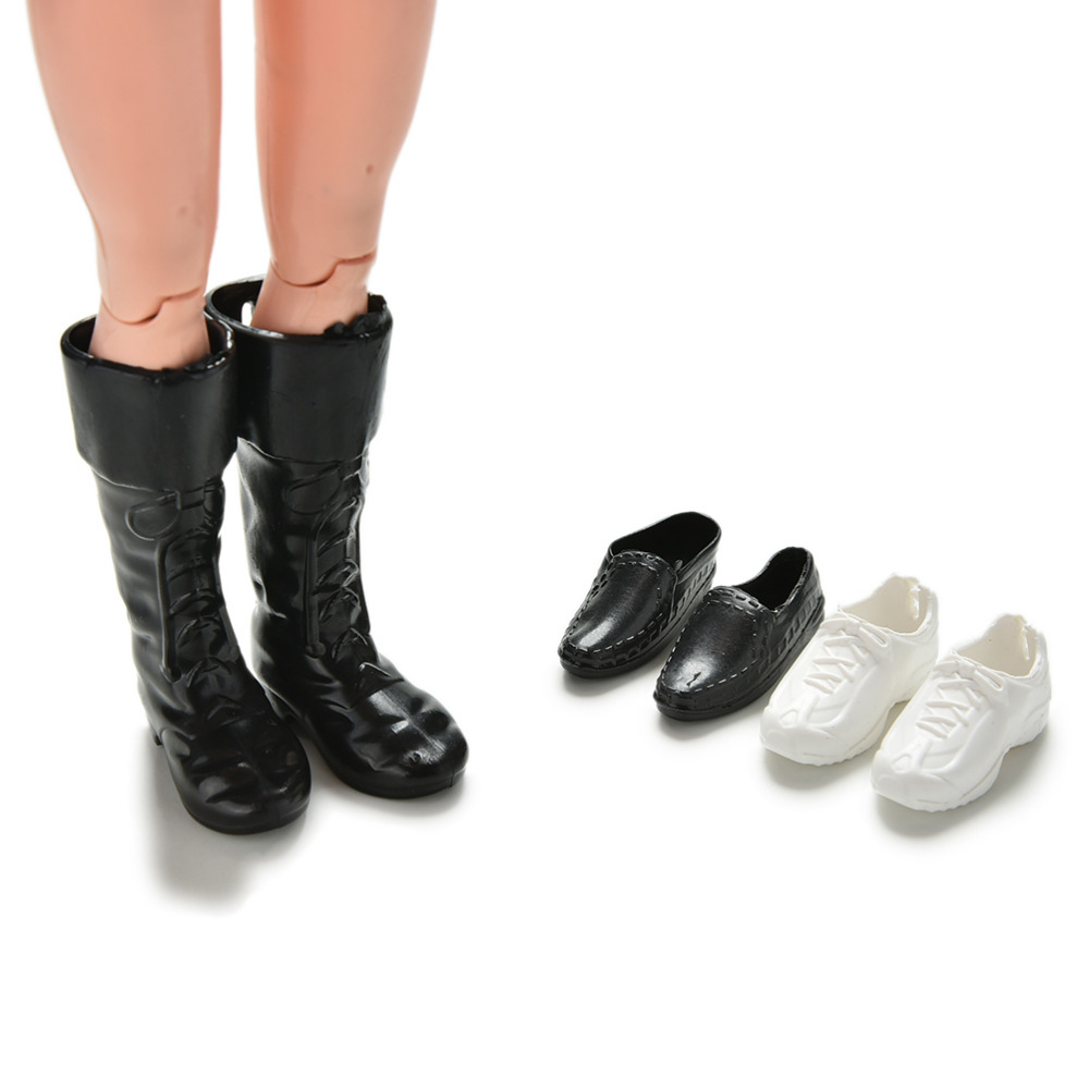 3 Pairs Dress Up For Friend Dolls Cusp Shoes Sneakers Knee High Boots For Boyfriend Ken Clothes Accessories