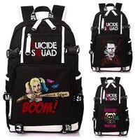 Cartoon DC Comics Suicide Squad Backpack Bag Harley Quinn The Joker Notebook Backpack Knapsack Travel School Bag