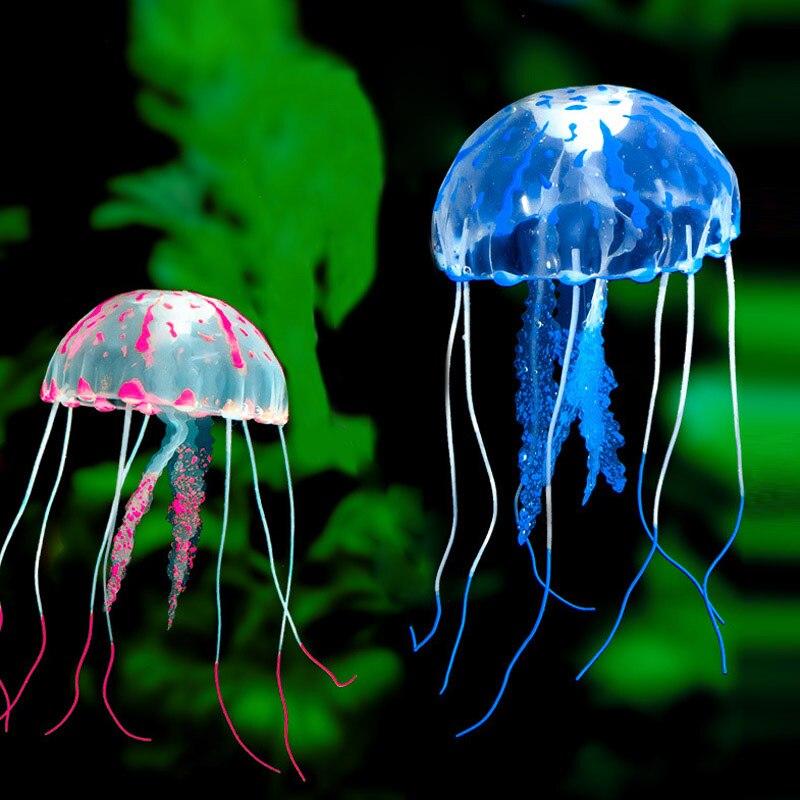 Trustful Valentines Day Gift Creative Beautiful Aquarium Night Light Durable Home Decoration Simulation Jellyfish Led Lamp Good Heat Preservation Led Night Lights Lights & Lighting