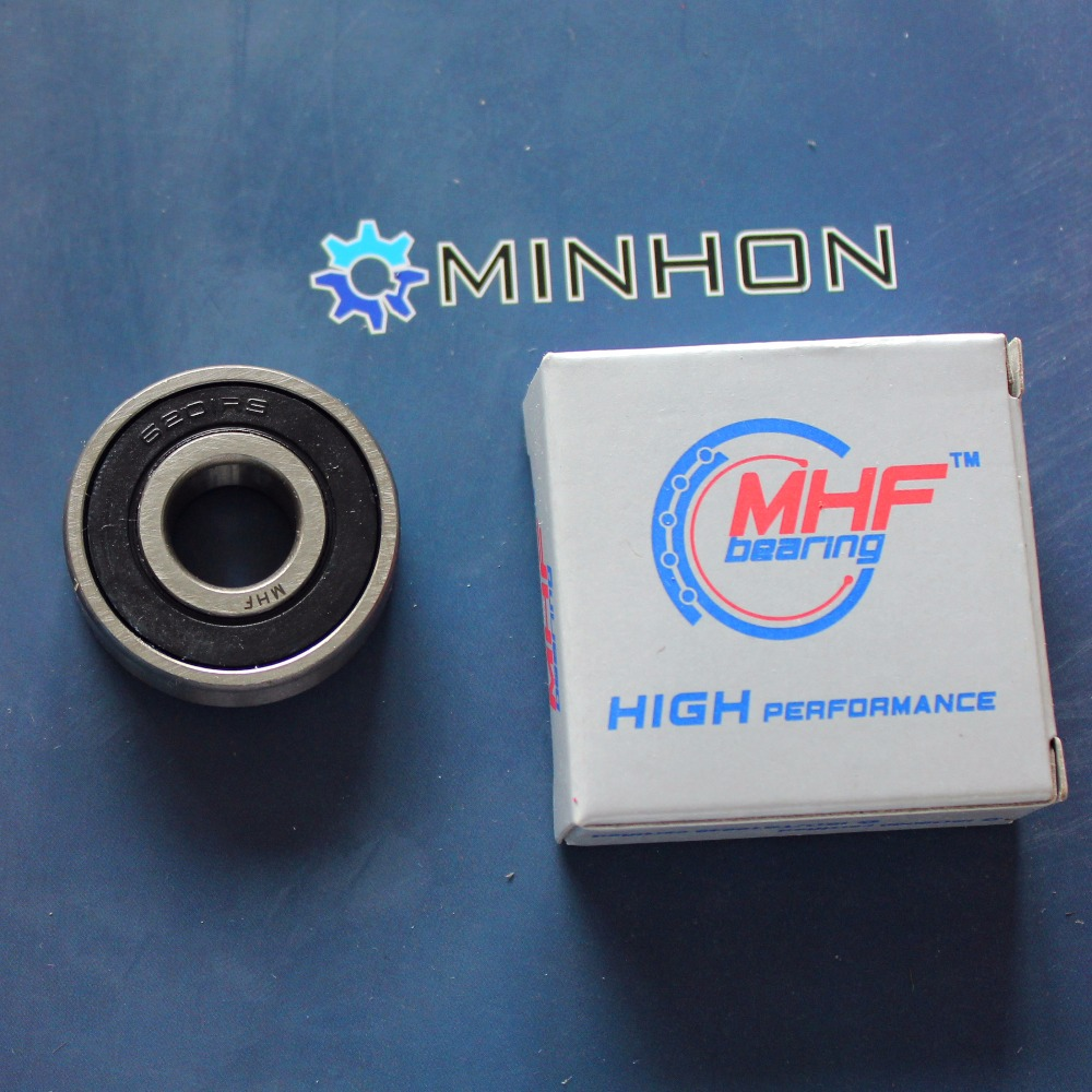 Free Shipping 2pcs 6201-2RS MHF Miniature Deep Groove Ball Bearings Size 12x32x10 Mm Best Price High Performance