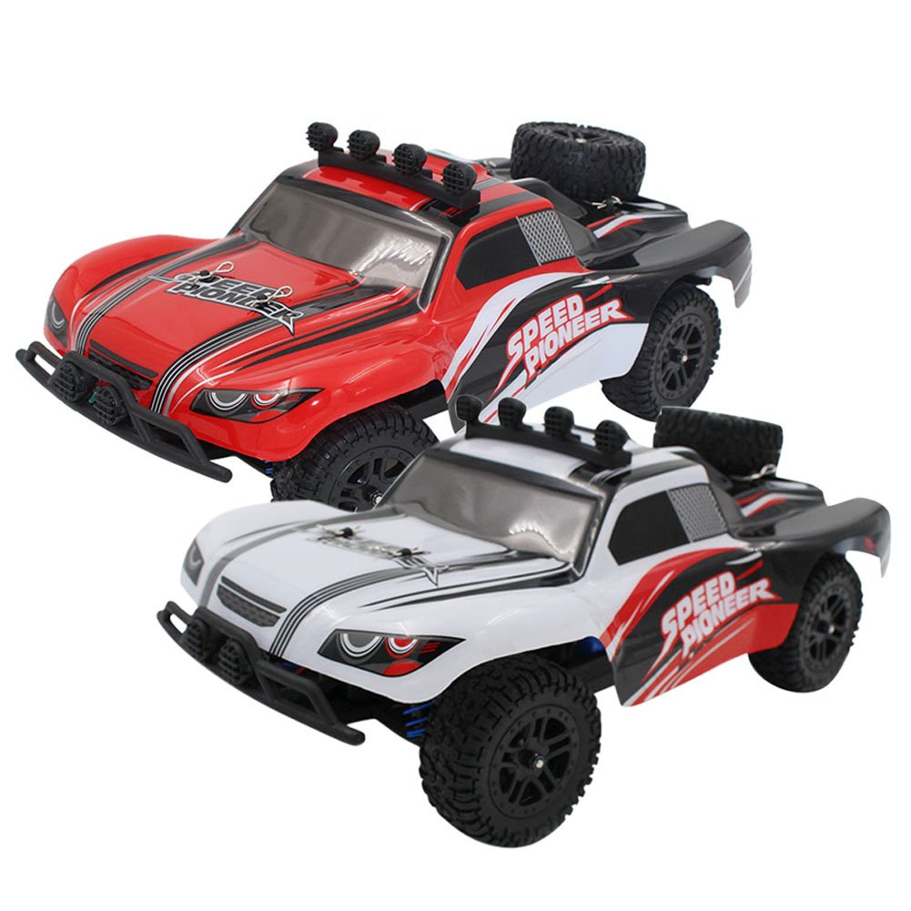 Children Car Model Toy Sandy Land Truck With light Remote Control Dirt Bike 9301-1 RC Car 1/18 2.4G 2wdElectric Racing Car remote control 1 32 detachable rc trailer truck toy with light and sounds car