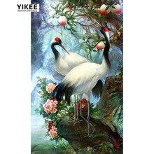 H300 5d diy diamond embroidery lover birds,sqaure full painting animal,diamond birds