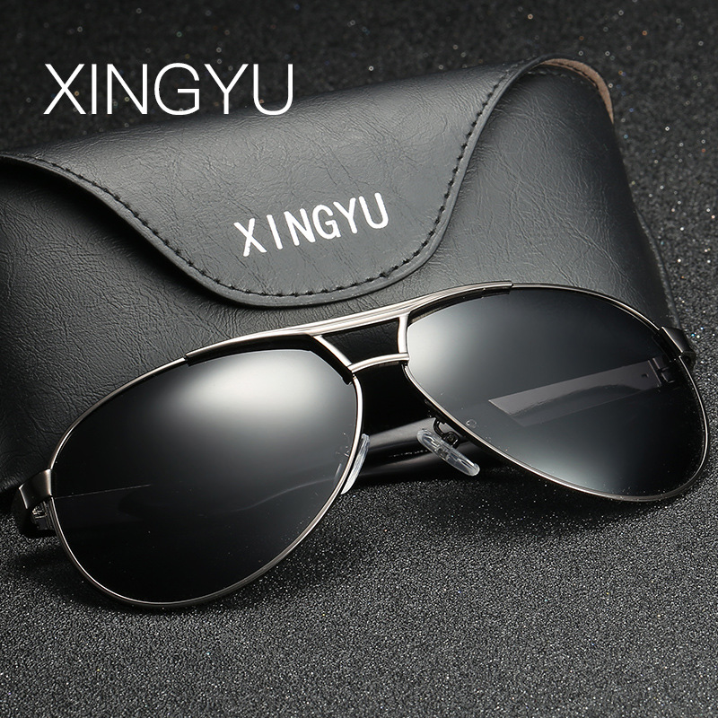 47d2b1aa4984 XINGYU New Men's Polarized Sunglasses Metal Alloy Driving Glasses 100%  UV400 Protection Goggles Eyewear Male Pilot Style