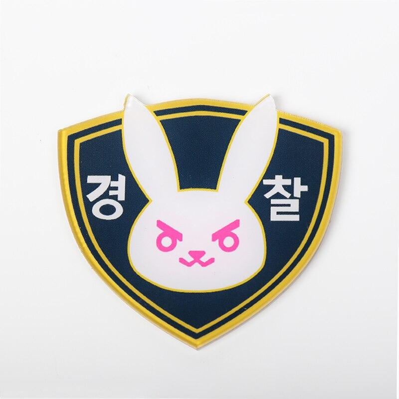 50MM Acrylic Officer D.va Badge Dva Brooch D va Hana Song Diva Accessory Fans Gift Bag Decoration For D.va Costume