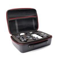 TELESIN Camera Carrying Case Waterproof Portable PU Carry Hard Case Travel Storage Handbag For DJI Spark