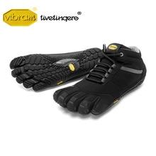 Vibram beş parmak Trek çıkış yalıtımlı erkek ayakkabı açık spor kış sıcak yün eğitim yürüyüş dağ tırmanma ayakkabıları