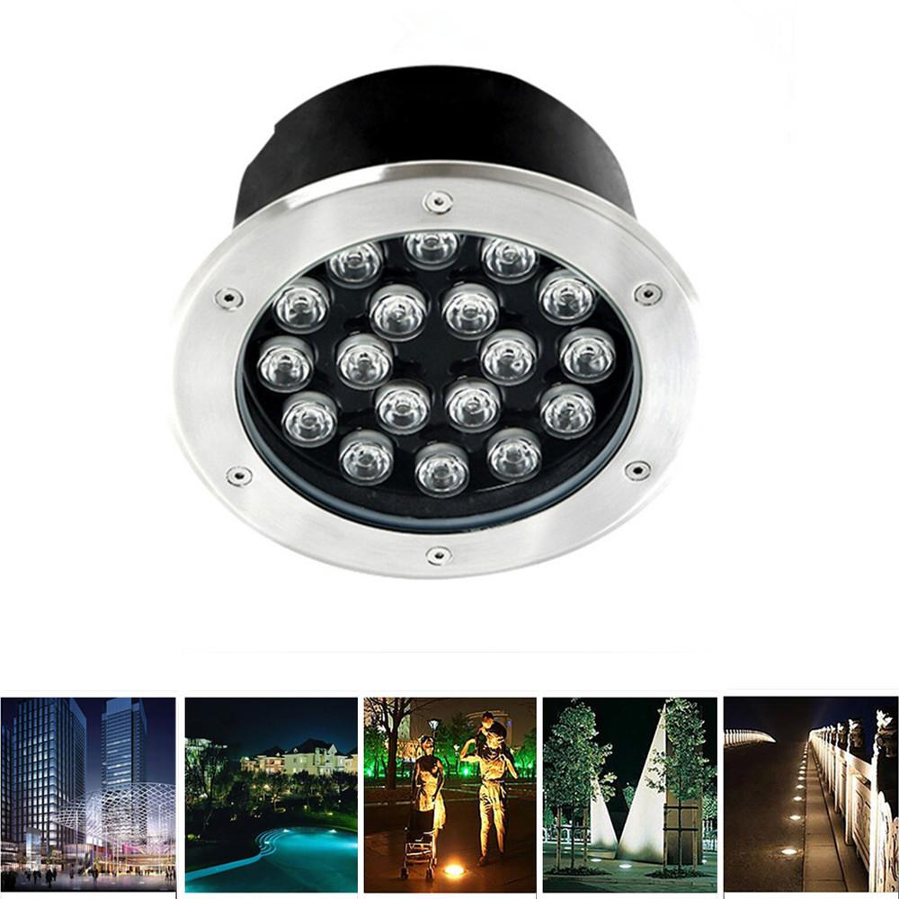 AKDSteel 18W IP67 Super Beauty LED Buried Light Circular Underground Landscape Lamp Path Way Garden Lawn Decoration guarranteed 100% free dhl shipping inground lamp ip67 garden path landscape light 5x3w 3in1 rgb led underground light