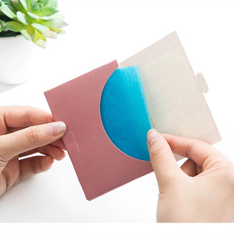 1 pack 50pcs Oil Control Sheets Absorption Facial Tissue Absorbing Facial Grease Paper Makeup Oil Blotting Film Tool