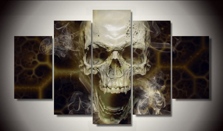 2016 painting by numbers fallout unframed skull 5 piece for Fallout 4 canvas painting