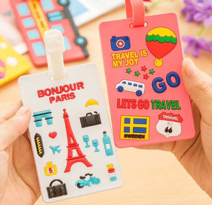Travel Accessories Luggage Tags Suitcase Cartoon Style Cute Stitch Silica Gel Fashion Silicon Portable Travel Label XL031