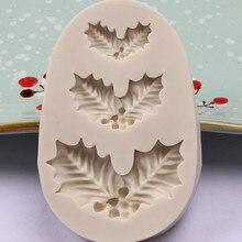 Рождественская елка лист шаблон силиконовая форма шоколадный торт форма для выпечки Кухонные инструменты ручной работы