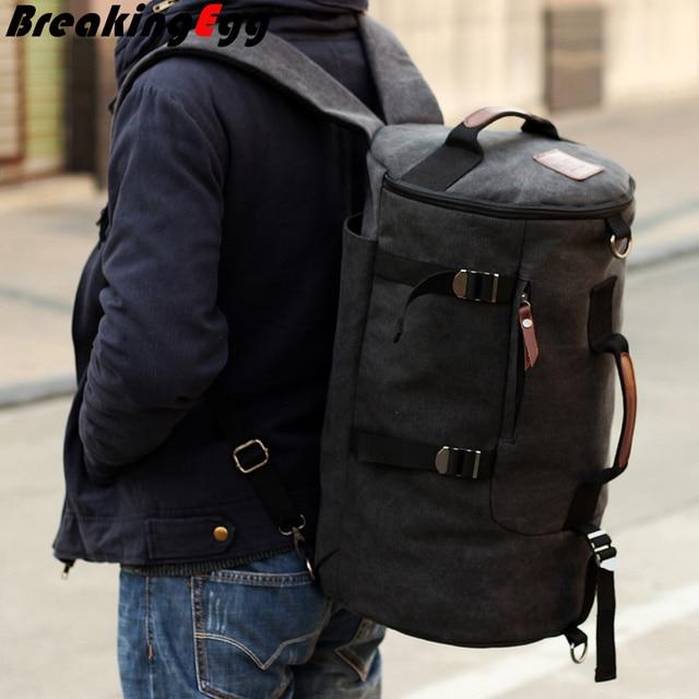 Canvas Women Backpack Men Rucksack Mochila Outdoor Duffel Bag Large Camping Las Travel