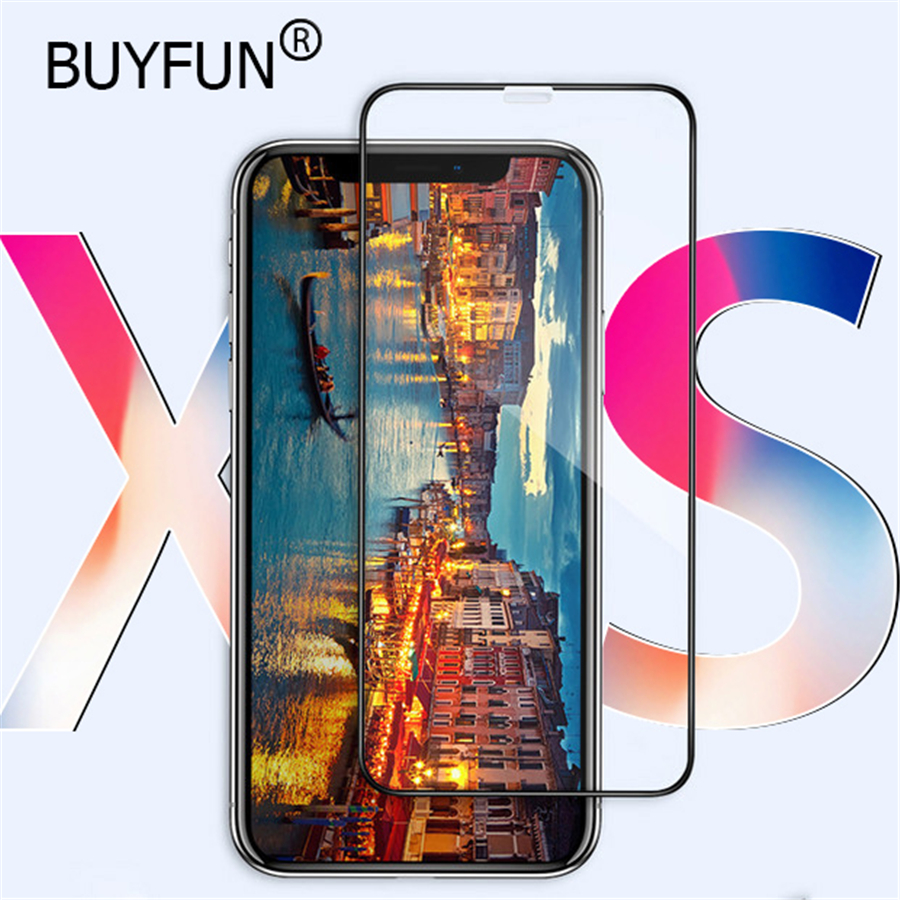 5D Tempered Glass for iPhone XS Screen Protector Glass for iPhone X XR XS Max 8 7 Plus Toughed Film for iPhone XS 5.8inch 2018
