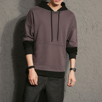 2017 Brand New Autumn Hooded Sweatshirts Men's Hoodies Men Pullover Slim Hoodies 52% Cotton Patch color Casual Streetwear Male