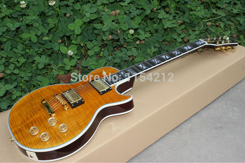 Hot selling Custom wholesale g custom Supereme electric font b guitar b font EMS free shipping