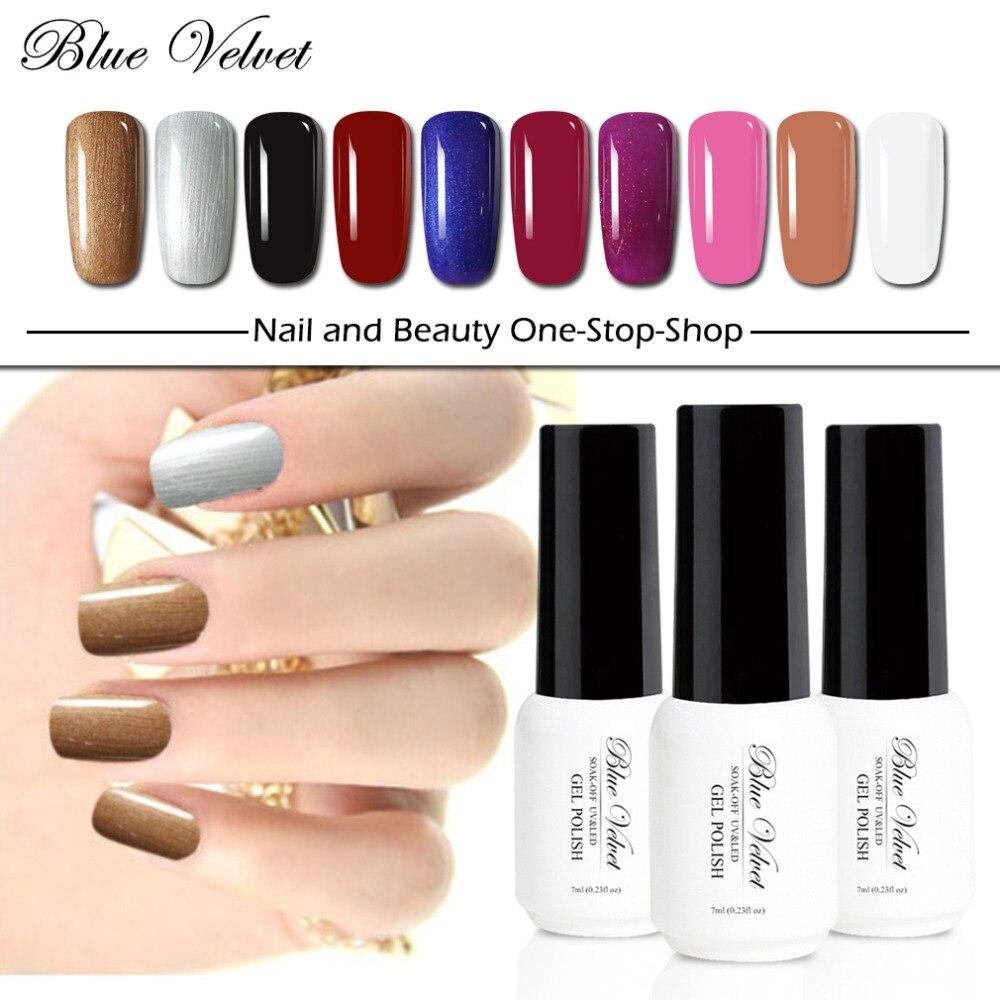 Blue Velvet 7ml UV Nail Gel Polish Long Lasting Gel