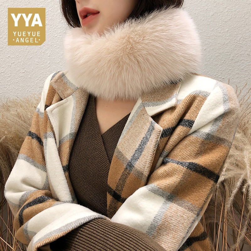 2019 New Winter Womens Short Scarf Fashion Solid Real Fox Fur Ring Scarf Brand Luxury Thick Warm Scarf Cachecol Seven Color