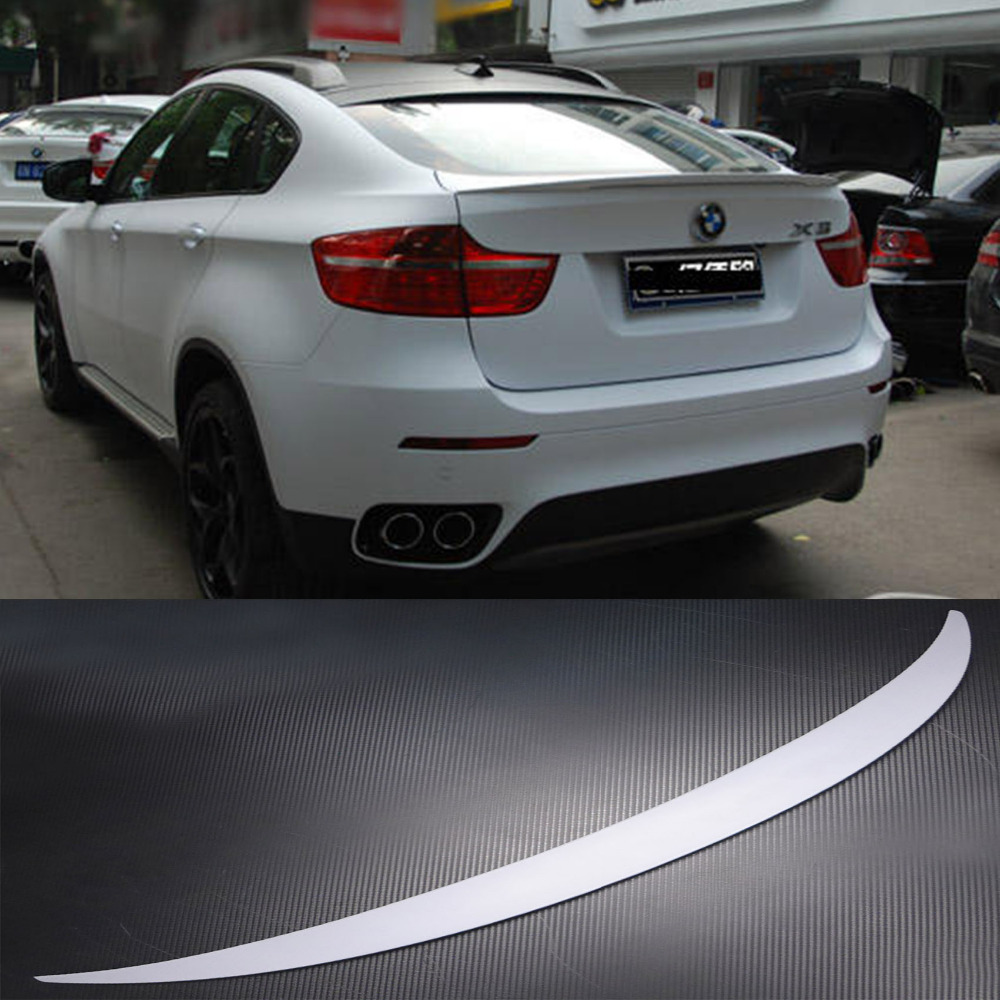 X6 E71 Pu Primer Car Body Kit Rear Trunk Spoiler Wing Performance Styling 2008 2013 For Bmw